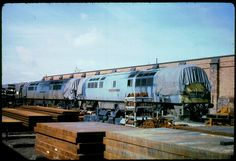 'Western Trooper' and 'Western Gauntlet at' Swindon Works on Aug was built at Crewe Works and delivered to Old Oak Common depot on Jan Withdrawn on Sept 1976 and cut up at Swindon Works on April Electric Locomotive, Diesel Locomotive, British Rail, Train Pictures, Great Western, Abandoned, Westerns, It Works, Restoration