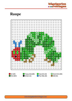 very busy caterpillar perler pattern