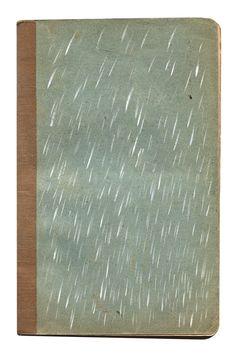 Rain: on Paper | A5 jotter + Gouache | David Cass