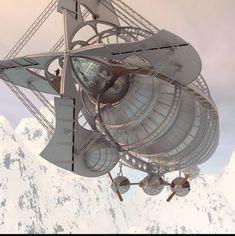 winter white airship render.ru
