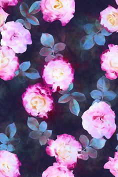 Twilight Roses Art Print by Micklyn