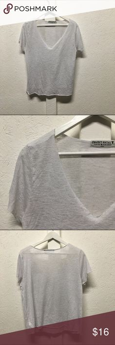 Project social T V neck Project social t Los Angeles loose knit tee project social tee Tops Tees - Short Sleeve
