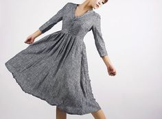 Still want, still have no where to wear it  Grey dress linen dress maxi dress MM50 by xiaolizi on Etsy, $79.00