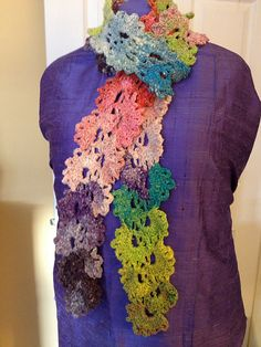 Ravelry: Queen Anne's Lace Scarf pattern by Diane L. Augustin