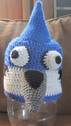 Check out this item in my Etsy shop https://www.etsy.com/listing/158414341/blue-jay-mordecai-inspired-hat-beanie