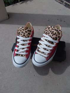 brand new 653e2 55b83 Leopard Print Converse by ChaoticMayhem on Etsy,  90.00 Leopard Print  Converse, Converse Shoes,