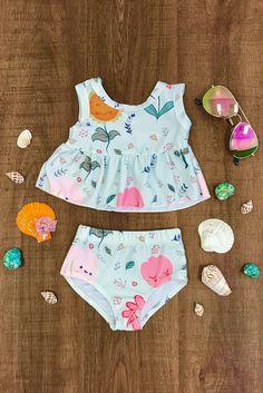 Floral Tankini Swimsuit Set