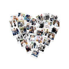 Heart Snapshot Mix™ Photo Art by Minted for Minted -- @Funaek I think this would be a great present for your sister.  Maybe full of pug pics?