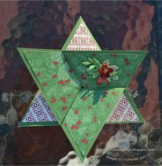 JustDreaminStamps.blogspot.com    Stampin Up; Star Fold; Peace This Christmas stamp set
