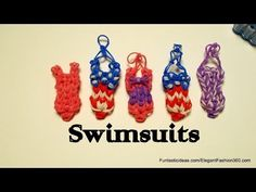 Rainbow Loom SWIMSUIT charm. Designed and loomed by Elegant Fashion 360. Click photo for YouTube tutorial. 05/05/14.
