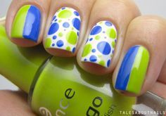 lime and pacific blue #nail #nails #nailsart