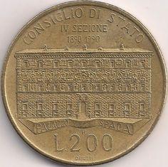 Wertseite: Münze-Europa-Südeuropa-Italien-Lira-200.00-1990