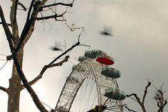London eye in winter- coloursplash