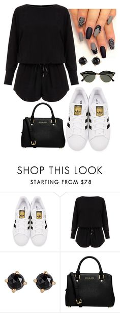 """""""Untitled #9"""" by hayleighoaks917 on Polyvore featuring adidas Originals, Helmut Lang, Irene Neuwirth, MICHAEL Michael Kors and Ray-Ban"""