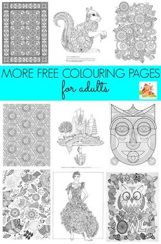 More free colouring pages for adults. A super selection of free colouring pages for adults and teens to enjoy. Join the grown-up colouring craze