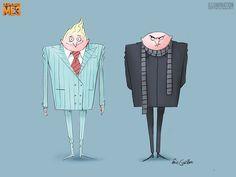 Character Designs de Eric Guillon para Despicable Me 3 | THECAB - The Concept Art Blog