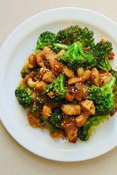 brócoli con pollo estilo oriental