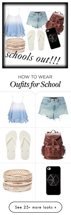 """""""schools out"""" by sonjakolecki on Polyvore featuring T By Alexander Wang, Havaianas, Charlotte Russe and AmeriLeather"""