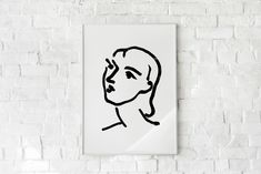 Excited to share the latest addition to my #etsy shop: Matisse Print, Abstract Modern Art, Woman Face Print, Printable Minimal Art, Black White Print, Scandinavian Painting, Wall Decoration Scandinavian Paintings, Face Outline, Female Face Drawing, Beige Art, Simple Art, Woman Face, Printable Art, Online Printing, Modern Art