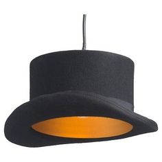 Classic Black and Gold 6 Bowler Hat Ceiling Lamp - ZM Home, Black/Gold