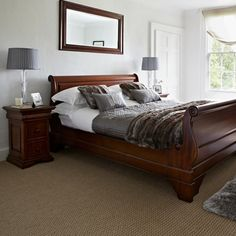 The Grosvenor Bed Frame - Solid Mahogany Bed Frame with finish