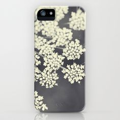 Black and White Queen Annes Lace iPhone & iPod Case by Erin Johnson - $35.00