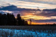 February Sunset by Celia Schulz-Photography on Capture Wisconsin // After a hum drum day the excitement of a sunset is just what I need to feel alive!