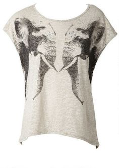 Mirror Elephant Tee - View All Tops - Tops - Clothing - Alloy Apparel