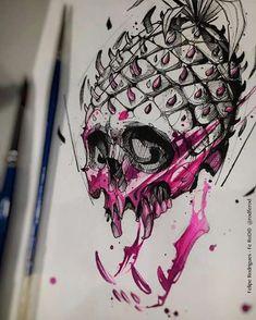 – Felipe Rodrigues tattoo – Graffiti World Tattoo Sketches, Tattoo Drawings, Cool Drawings, Body Art Tattoos, Art Sketches, Tatto Skull, Skull Art, Art Et Design, Totenkopf Tattoos