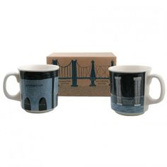 Bridge & Tunnel Mug Gift Box Pair - New York Patterns - Patterns & Collections