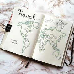 Image result for world map bullet journal