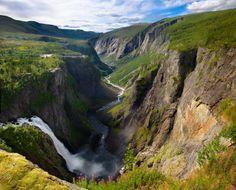 Vringfossen waterfall in Norway  #landscape #vringfossen #waterfall #norway