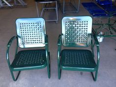 Vintage Metal Chairs And Retro Patio Tables Vintage