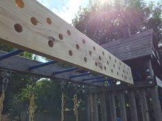 attached diy pegboard #american_ninja_warrior