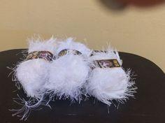 Fun Fur Lion Brand Yarn 2 1/2 Units Of White #LionBrand