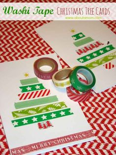 These adorable washi tape tree cards.