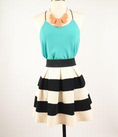 Sleek Stripes Skirt | Harmony Belle Boutique