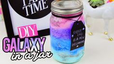 Super ideas for diy summer room decor lava lamps Uses For Mason Jars, Pot Mason Diy, Diy Mason Jar Lights, Mason Jar Crafts, Diy Galaxie, Diy Galaxy Jar, Galaxy In A Jar, Galaxy Crafts, Glow Jars
