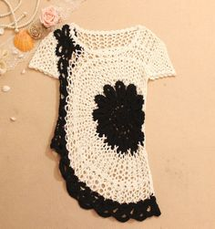 Crochet sweater from embroidery-lace.com