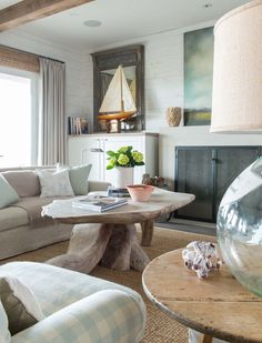 This gorgeous beach house design was stylishly crafted for family living by Ginger Barber Interior Design, located in Lafitte's Point, in Galveston, Texas. House Design, Home And Living, Interior Design, House Interior, Living Room, Beach House Design, Home, Interior, Home Decor