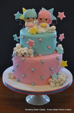 Little Twin Stars Cake O__O PERFECTION!