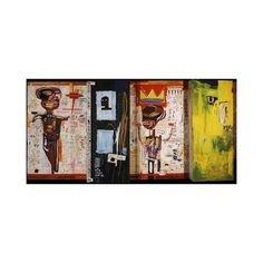 Graffiti Painted Wall Art Michel Basquiat Neo Expressionism Woven... ($26) ❤ liked on Polyvore featuring home, home decor, wall art, photo wall art, wall posters, wall home decor, colorful wall art and colorful home decor
