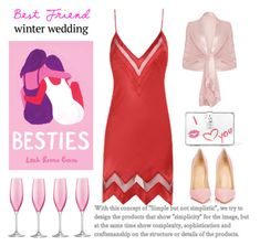 """My Best Friend's Wedding"" by conch-lady ❤ liked on Polyvore featuring Penguin Random House, Agent Provocateur, Christian Louboutin, Dolce&Gabbana, LSA International, besties, toast, winterwedding and bestfriendswedding"