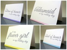 Thank You for Being My Bridesmaid Maid of Honor by TheWhiteInvite, $10.00