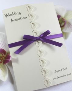 Beautiful Elegant Personalised Handmade Wedding Invitations