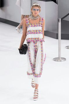 Pops of Color Chanel Airlines 2016 S/S Runway - Haute Couture