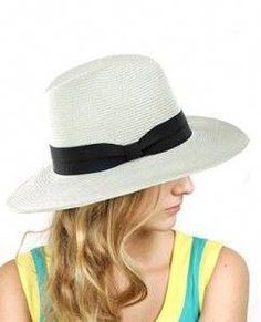 Lightweight Solid Color Band Braided Panama Fedora Sun Hat One size fits  most paper 940c70b3322d