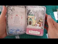 Miniature Christmas house, Frozen Free fall - DIY miniature doll house in a small box - YouTube