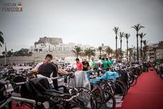 Así entraban las bicis al box los participantes del III InfinitriMan Triatlón MD Peñíscola hace casi ya dos meses...como pasa el tiempo!