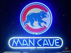 Man cave Chicago Cubs Neon Sign MLB Teams Neon Light